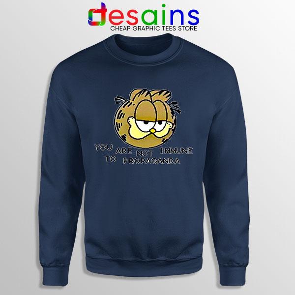 Not Immune to Propaganda Meme Navy Sweatshirt Covid 19