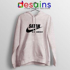 Satan The Devil Nike Sport Grey Hoodie Just Believe In It