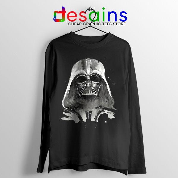 Best Darth Vader Paint Black Long Sleeve Tee Anakin Skywalker