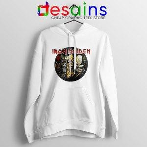 Best Iron Maiden Cover Art White Hoodie Studio Albums