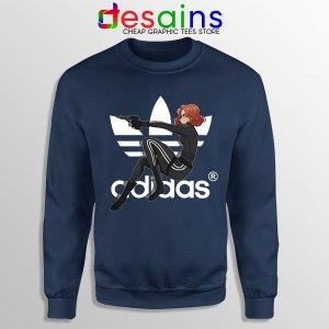 Best Natasha Romanoff Adidas Navy Sweatshirt Black Widow