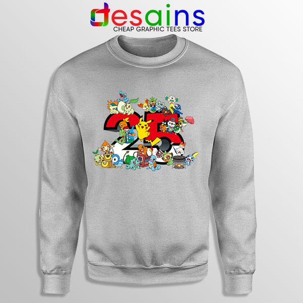 Best Pokémon Universe Sport Grey Sweatshirt 25th Anniversary