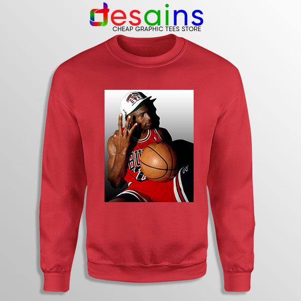 Best Three Point Jordan Red Sweatshirt Legend NBA