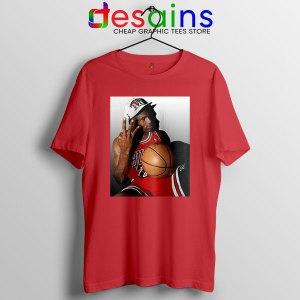 Best Three Point Jordan Red T Shirt Legend NBA