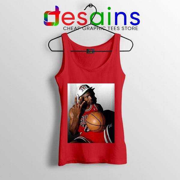 Best Three Point Jordan Red Tank Top Legend NBA