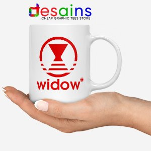 Black Widow Marvel Adidas White Mug Cheap Merchandise