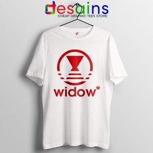 Black Widow Marvel Adidas White T Shirt Movie Apparel
