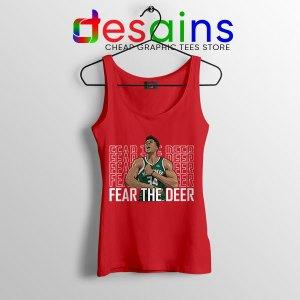 Buy Fear The Deer Giannis Red Tank Top Bucks Final