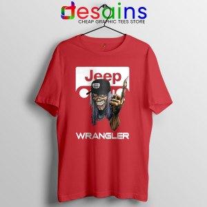 Buy Jeep Maiden Skull Red T Shirt Wrangler Heavy Metal