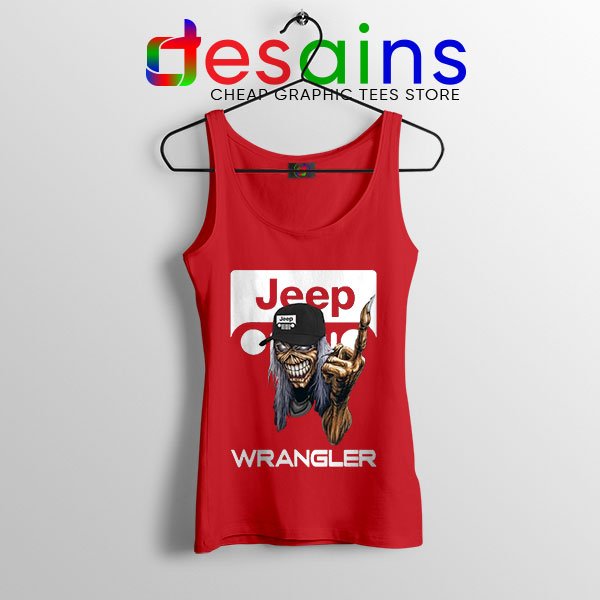 Buy Jeep Maiden Skull Red Tank Top Wrangler Heavy Metal