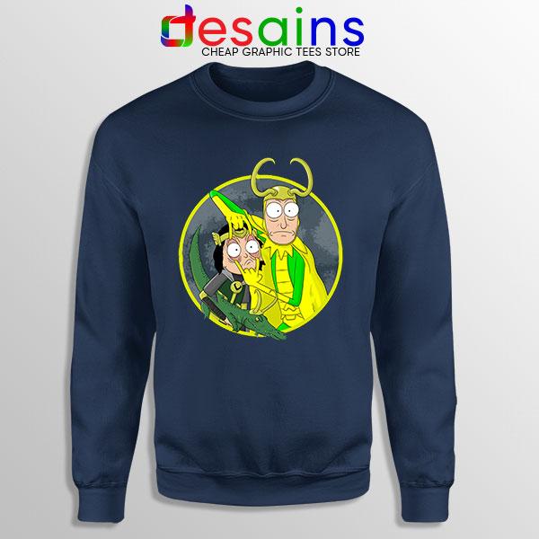 Classic Loki Rick Sanchez Navy Sweatshirt Variant TVA