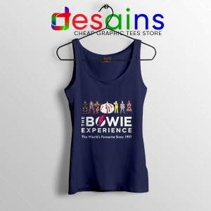 David Bowie Experience Navy Tank Top Still Alive