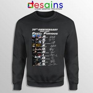 Fast Furious 20th Anniversary Sweatshirt Fast Saga