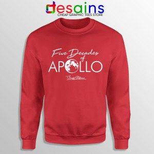 Five Decades of Apollo Red Sweatshirt Elon Musk