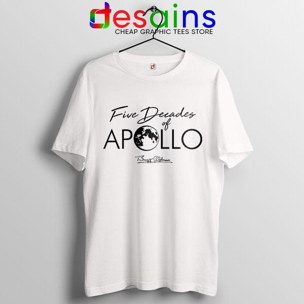 Five Decades of Apollo White T Shirt Elon Musk
