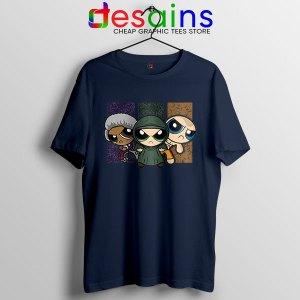 Glass Film Powerpuff Girls Navy T Shirt Cartoon Split