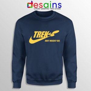 Go Boldly Star Trek Nike Navy Sweatshirt Just Do It