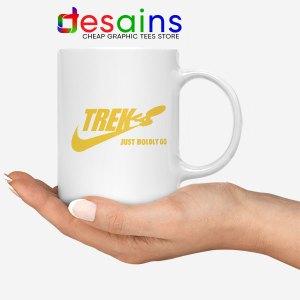 Go Boldly Star Trek Nike White Mug Just Do It Logo