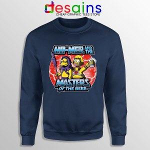 Homer Masters Of The Beer Navy Sweatshirt Simpsons