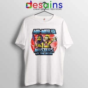Homer Masters Of The Beer White T Shirt The Simpsons