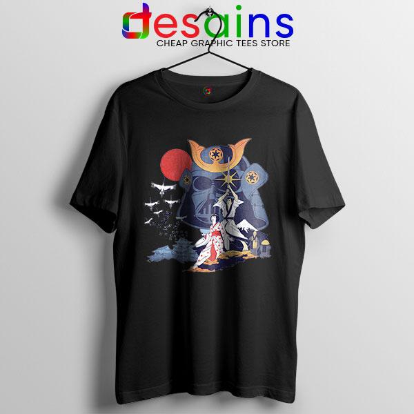 Japanese Samurai Star Wars Black T Shirt Darth Vader