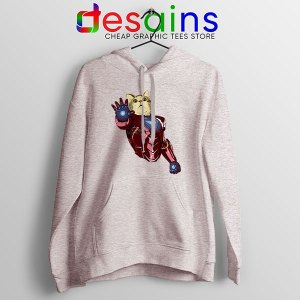 Meow Iron Man Avengers Sport Grey Hoodie Funny Cats