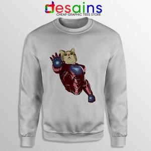 Meow Iron Man Avengers Sport Grey Sweatshirt Funny Cats