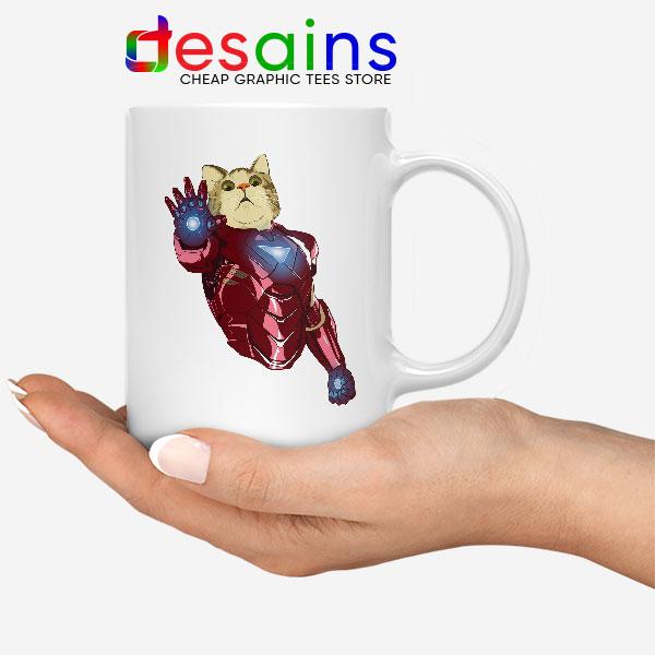 Meow Iron Man Avengers White Mug Funny Cats