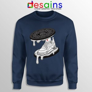 Oreo Sneaker Air Jordan 4 Navy Sweatshirt Retro