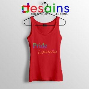 Pride Liberates Rainbow Red Tank Top LGBT Flag