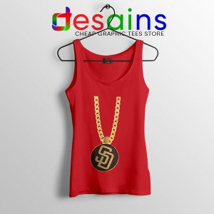San Diego Padres Swag Red Tank Top MLB MerchSan Diego Padres Swag Red Tank Top MLB Merch
