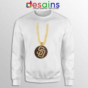 San Diego Padres Swag White Sweatshirt MLB Merch