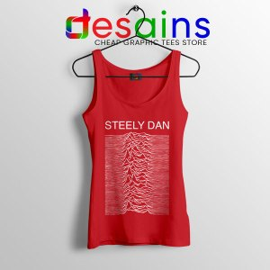 Steely Dan Division Logo Red Tank Top Rock Band