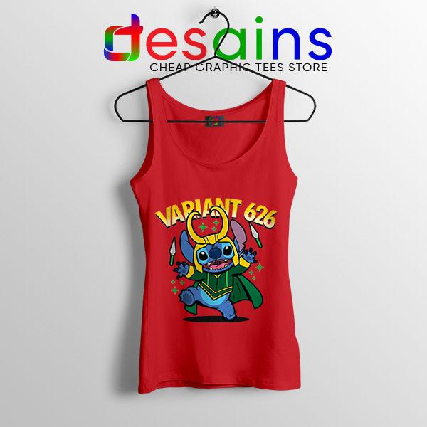 Variant Loki Funny Stitch Red Tank Top Marvel Comics TVA