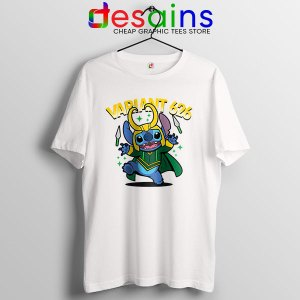 Variant Loki Funny Stitch White T Shirt Marvel Comics TVA