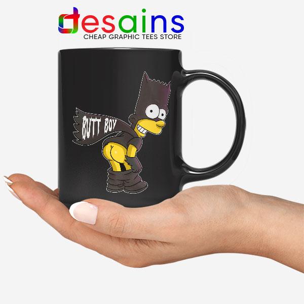 Batman Bart Butt Boy Mug Cartoon Funny