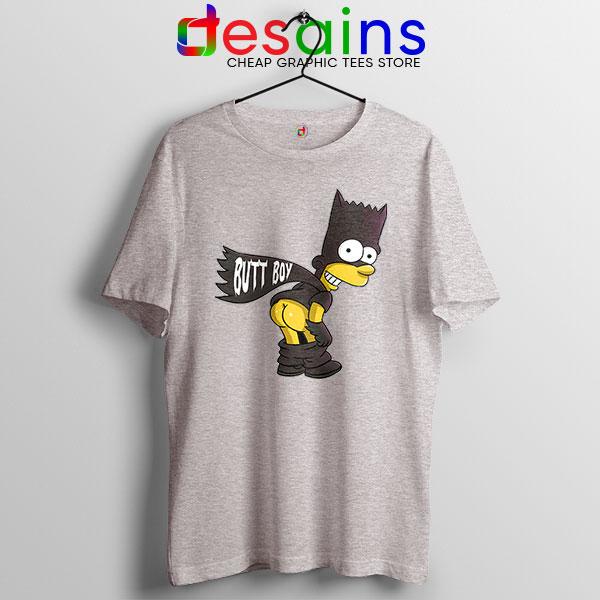 Batman Bart Butt Boy Sport Grey T Shirt Cartoon Funny