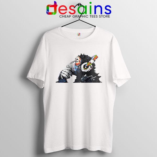 Best Banksy DJ Monkey T Shirt Street Artist