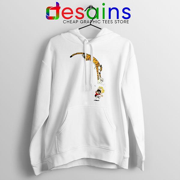 Calvin and Hobbes Jump Hoodie Funny Strip