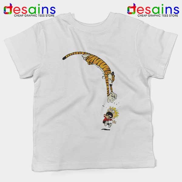 Calvin and Hobbes Jump Kids Tee Funny Strip