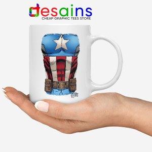 Captain America Chest Flag Mug Avengers Endgame
