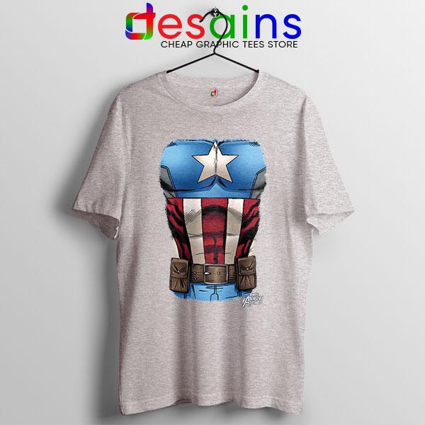 Captain America Chest Flag Sport Grey T Shirt Avengers Endgame