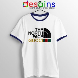 Cheap North Face Gucci Navy Ringer Tee Funny Apparel