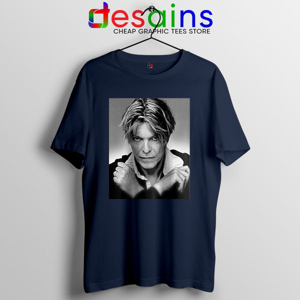 David Bowie Eyes Color Navy T Shirt Album Cover