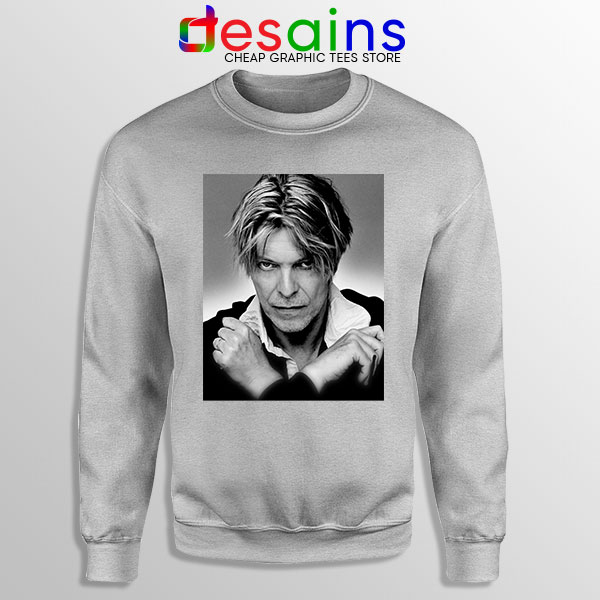 David Bowie Eyes Color Sport Grey Sweatshirt Album Cover
