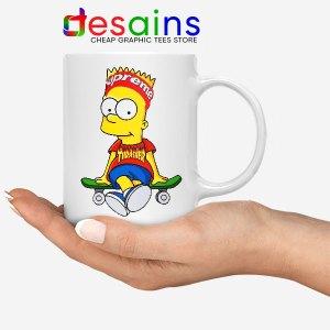 Funny Bart Simpson Skateboard Mug Skate Pro