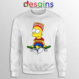 Funny Bart Simpson Skateboard Sweatshirt Skate Pro