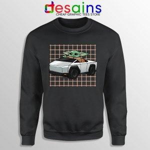 Funny Cybertruck Baby Yoda Sweatshirt Tesla