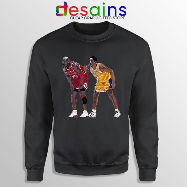 Kobe Jordan Real GOAT Black Sweatshirt NBA Legend