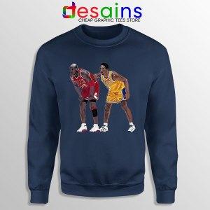 Kobe Jordan Real GOAT Navy Sweatshirt NBA Legend